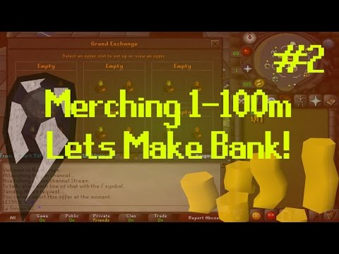 [OSRS] Runescape : MERCHING/FLIPPING 1-100M - ROAD TO BANK Episode #2