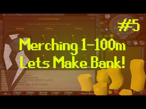 [OSRS] Runescape : MERCHING/FLIPPING 1-100M - ROAD TO BANK Episode #5 - INSANE PROFIT