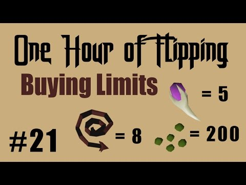 [OSRS] How I Made 700k in 1 Hour of Flipping Items with Known Buying Limits!  [Episode #21]