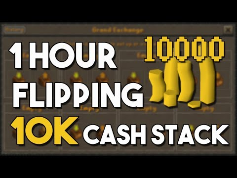 Flipping From a 10k Cash Start is Amazing!  (800% RETURN) A One Hour Flipping Challenge [OSRS]