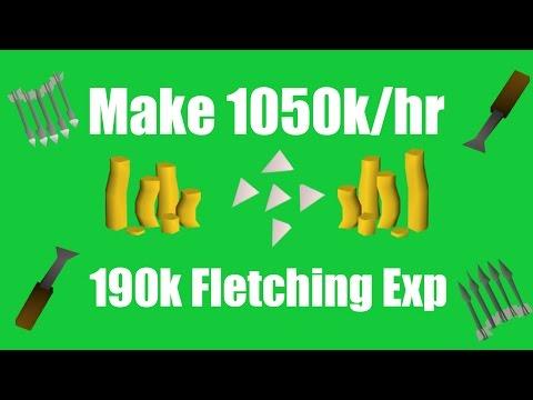 [OSRS] Make 1050k/hr While Training Fletching! - Oldschool Runescape Money Making Method!