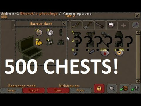 OSRS Loot From 500 Barrows Chests!