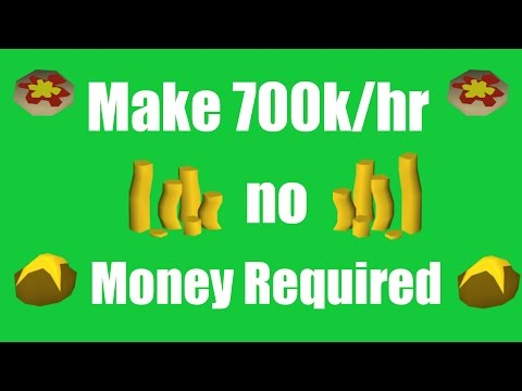 [OSRS] Make 700k/hr with No Starting Money - Oldschool Runescape Money Making Method!