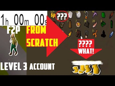 1 Hour of LEVEL 3 FROM SCRATCH (F2P EDITION)! IT IS DIFFICULT...- Oldschool 2007 Runescape
