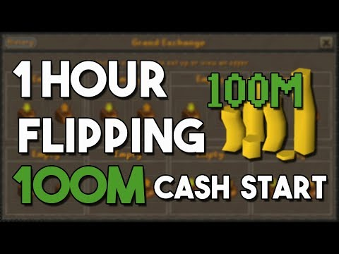 How to Flip From a 100M Cash Start! (Nonstop Flips) - A One Hour Flipping Challenge [OSRS]