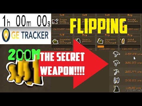 1 Hour of FLIPPING 200m START! feat. GE TRACKER! GE HACKS?! - Oldschool 2007 Runescape