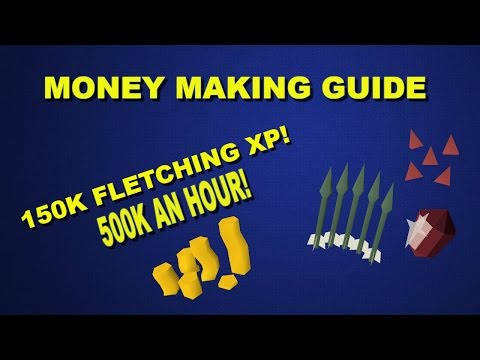 OSRS- 150K Fletching XP an hour and 500K GP!