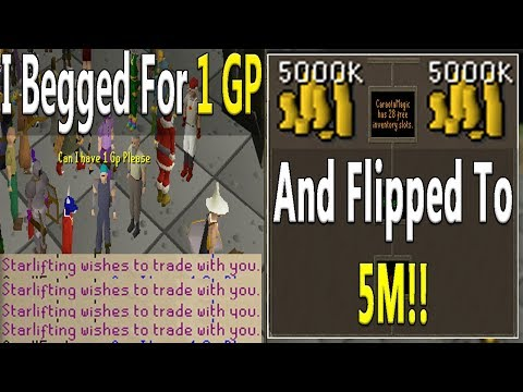I Begged In F2P For 1 GP And I Flipped It All The Way To 5M!!