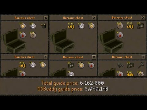 [OSRS] Loot From 50 Barrows Chests - Road to 1B from Nothing - Oldschool Runescape Progress  - EP 20